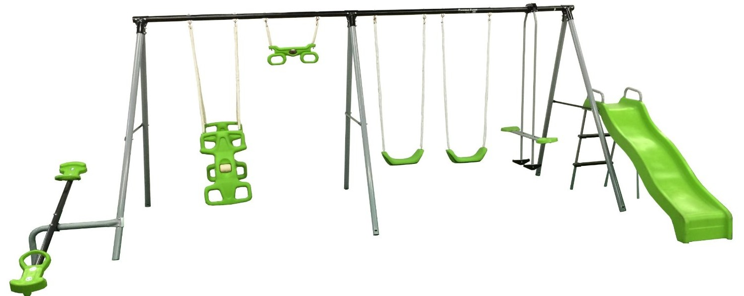grey backyard sets products playsets set ladder metal discovery swing castle