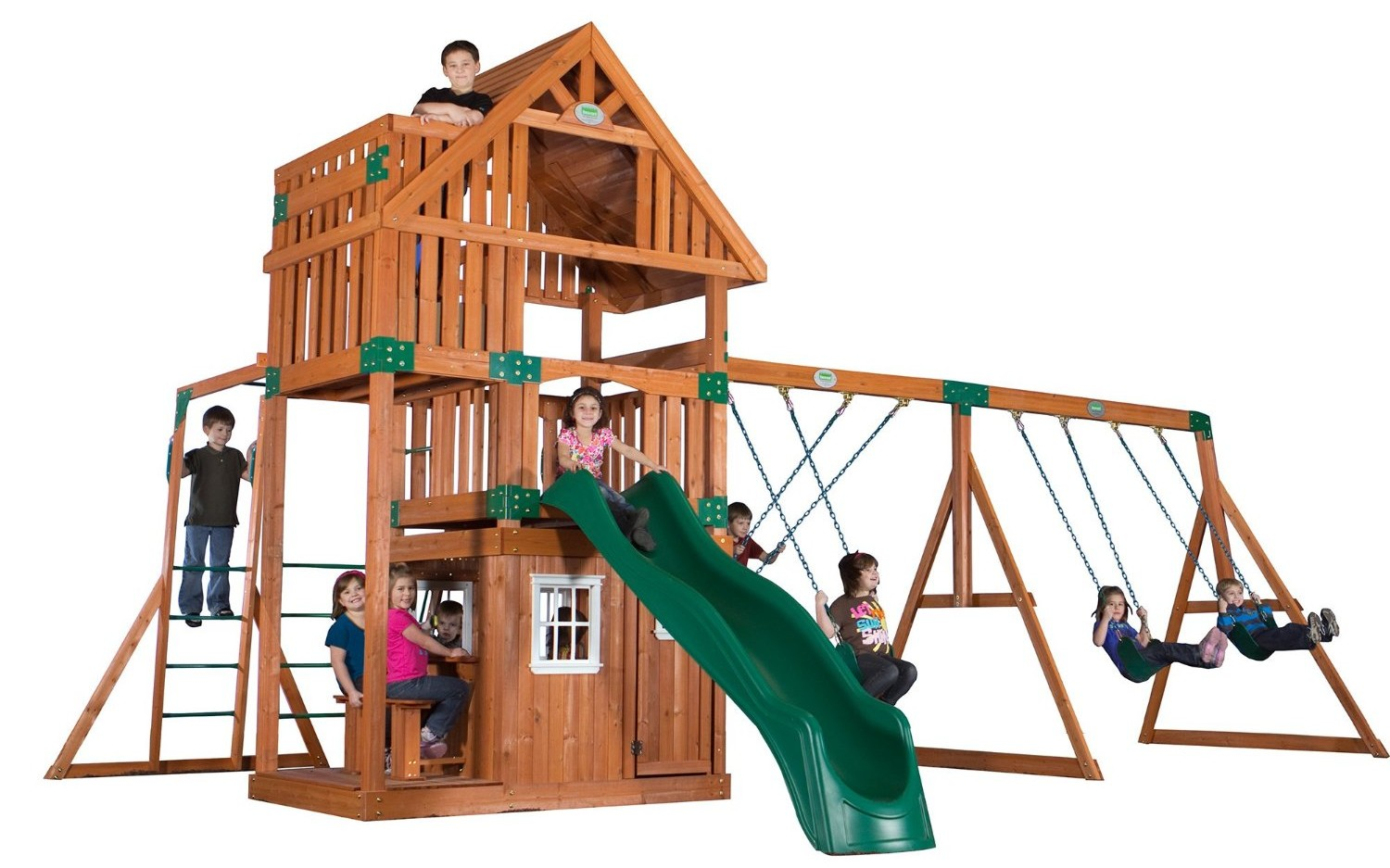 top rated wooden swing set