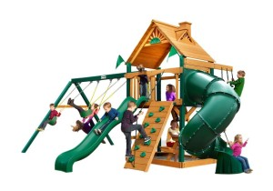 tube slide swing set