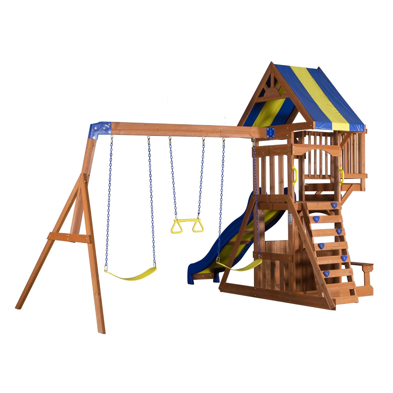 backyard discovery wooden swing set