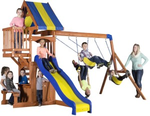 wooden swing set under $500