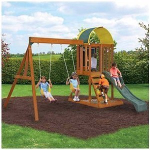 wooden swing set under 500